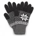 Мужские вязаные перчатки с зимним орнаментом