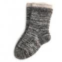 Мужские теплые шерстяные носки цвета темный меланж