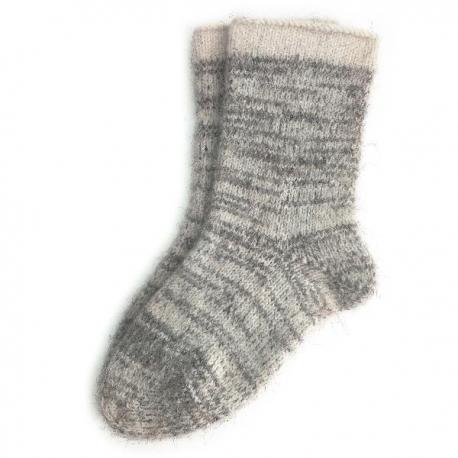 Мужские теплые шерстяные носки цвета светлый меланж