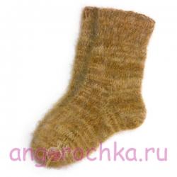 Мужские пуховые шерстяные носки ручной вязки