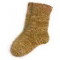Мужские пуховые шерстяные носки горчичного цвета