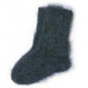 Мужские пуховые шерстяные носки ручной вязки черного цвета