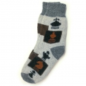 Теплые шерстяные носки с шахматами