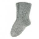Серые мужские пуховые шерстяные носки