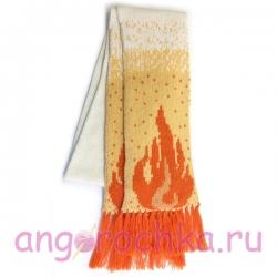 Вязаные шарфы с логотипом