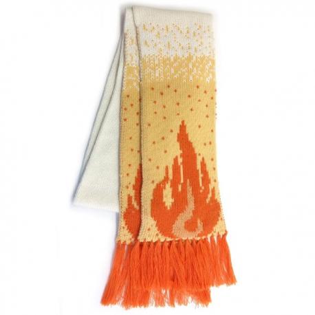 Вязаный шерстяной шарф с логотипом