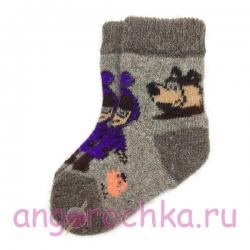 Детские безразмерные шерстяные носки с мультяшными героями