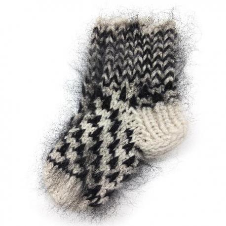 Детские шерстяные носочки с мохером