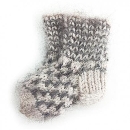 Детские шерстяные носочки ручной работы