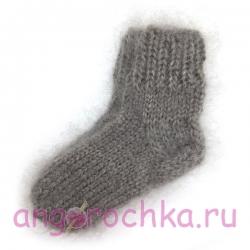Детские ручные пуховые носочки