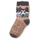 Мужские шерстяные носки с Хаски