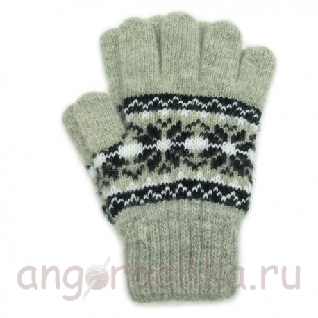 Серые детские перчатки