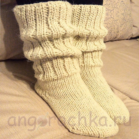 Женские шерстяные носки-полугольфы