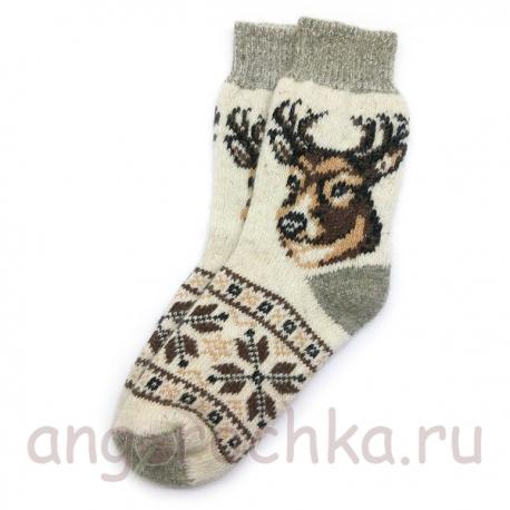 Мужские шерстяные носки с оленем