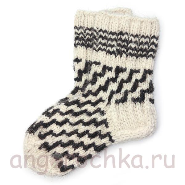 Купить мужские вязаные шерстяные носки ручной работы в ...