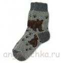 Мужские шерстяные носки с медведями