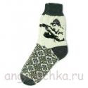 Мужские шерстяные носки с охотником