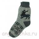 Мужские шерстяные носки с северным оленем