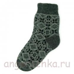 Мужские шерстяные носки с черным орнаментом
