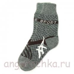 Мужские шерстяные носки с рисунком - спорт