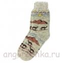 """Мужские шерстяные носки """"Египет"""" серые"""