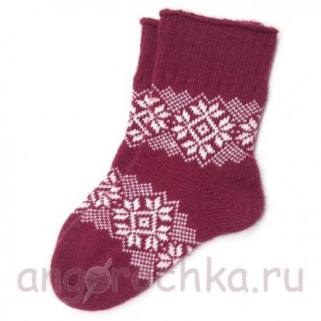 Мужские шерстяные носки со снежинками