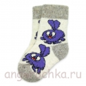 Детские шерстяные носки со смешариком