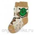 Детские шерстяные носки со шреком