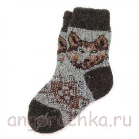 Детские шерстяные носки с волчонком
