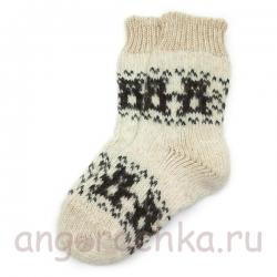 Детские шерстяные носки с мишками