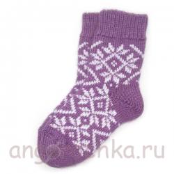 Детские шерстяные носки c орнаментом.