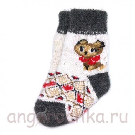 Детские шерстяные носки с котенком