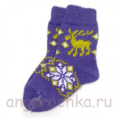 Детские шерстяные носки с лосем
