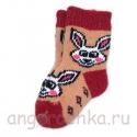 Детские шерстяные носки с зайчиком