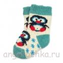 Детские шерстяные носки с пингвином