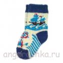 Детские шерстяные носки с корабликом