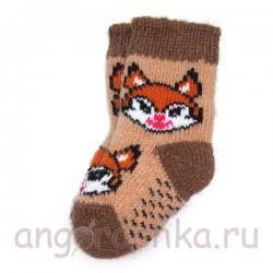 Детские шерстяные носки с лисенком