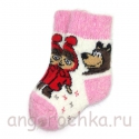 Детские шерстяные носки с Машей и Медведем