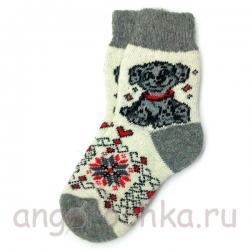 Женские шерстяные носки с далматинцем