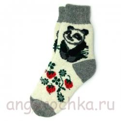Женские шерстяные носки с пандой