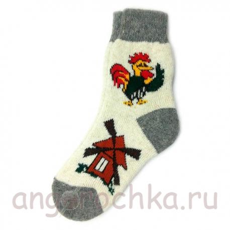 Женские шерстяные носки с петушком