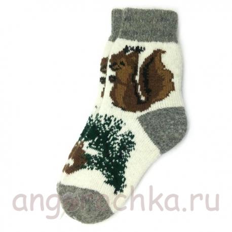 Женские шерстяные носки с белкой