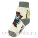 Женские шерстяные носки с котом в сапогах