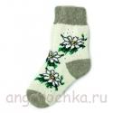 Женские шерстяные носки с ромашками