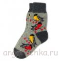 Женские шерстяные носки с птицами