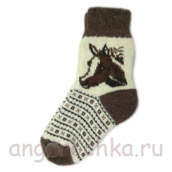 Женские шерстяные носки с лошадью