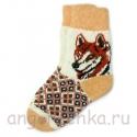 Женские шерстяные носки с лисицей