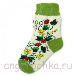 Женские шерстяные носки с рисунком