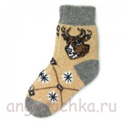Женские шерстяные носки с оленем
