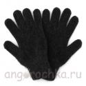 Черные вязаные шерстяные перчатки